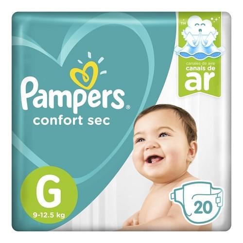 Imagem de Fralda infantil pampers confort pacotão g pc