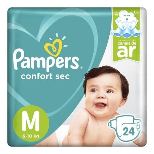 Imagem de Fralda infantil pampers confort pacotão m pc