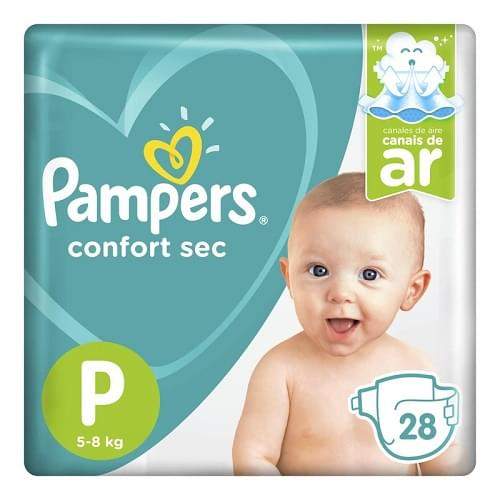 Imagem de Fralda infantil pampers confort pacotão p pc