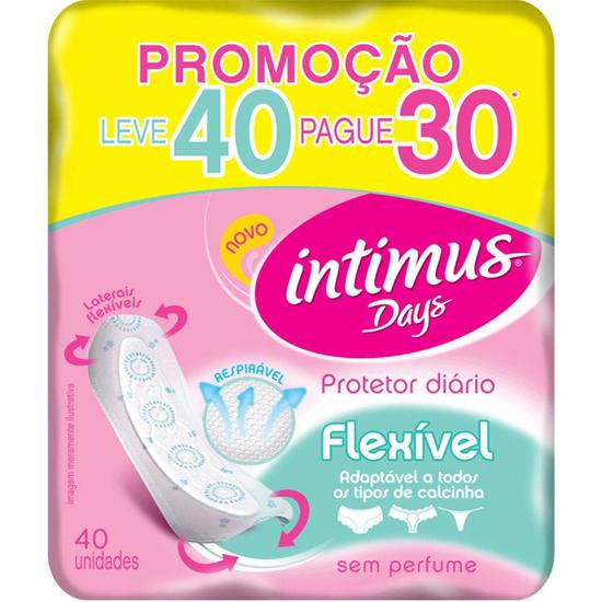 Imagem de Protetor diário sem abas intimus days flexivel l40p30