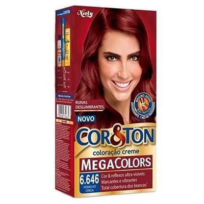 Imagem de Tintura permanente corton 50g 6.646 vermelho cereja mega colors
