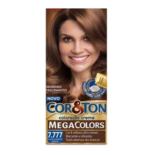 Imagem de Tintura permanente corton 50g 7.777 marrom mega colors