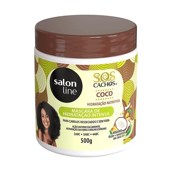 Imagem de Creme tratamento salon line 500g sos coco