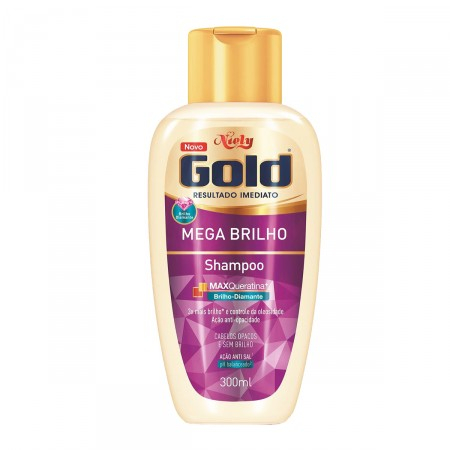 Imagem de Shampoo uso diário niely gold 300ml mega brilho