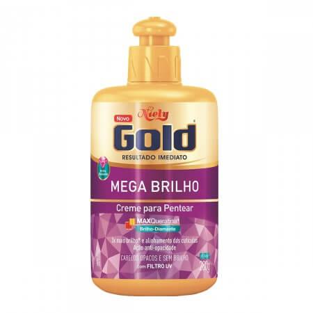 Imagem de Creme para pentear niely gold 280g mega brilho
