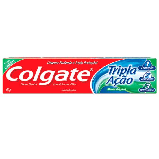 Imagem de Creme dental tradicional colgate 90g tripla ação menta original