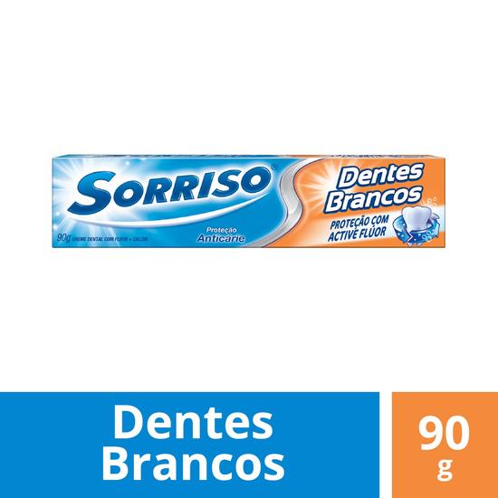 Imagem de Creme dental tradicional sorriso 90g dentes brancos com fluor