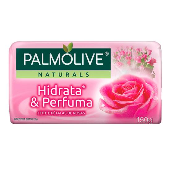 Imagem de Sabonete em barra uso diário palmolive 150g leite e rosas