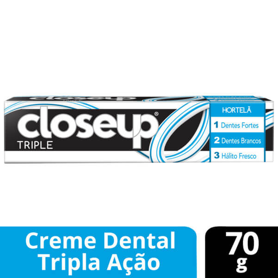 Imagem de Creme dental tradicional close-up 70g triple hortelã