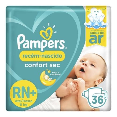 Imagem de Fralda infantil pampers rn c/36 confort sec rn+