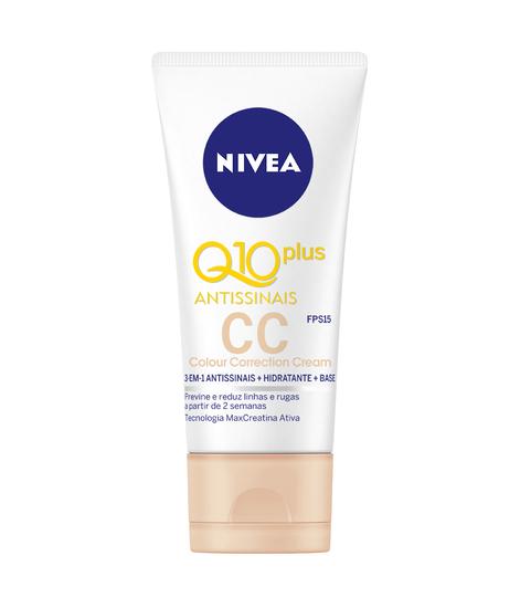 Imagem de Creme facial anti-idade nivea 50ml q10 antissinais cc cream