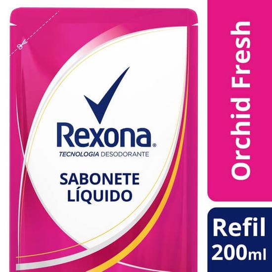 Imagem de Sabonete líquido refil rexona 200ml orchid fresh