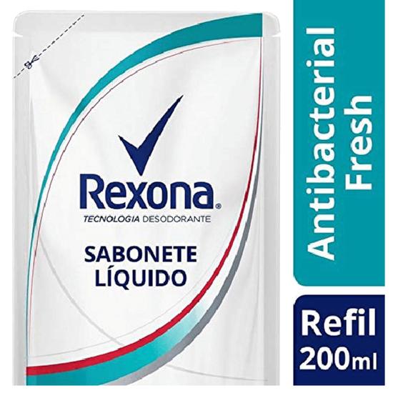 Imagem de Sabonete líquido refil rexona 200ml antibacteriano fresh