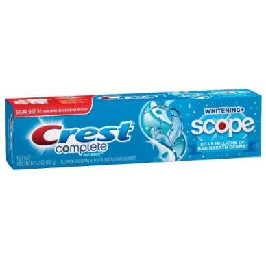 Imagem de Creme dental terapeutico crest 175g complete+scope peppermint