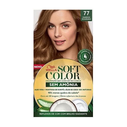 Imagem de Tintura semi permanente soft color 77 marrom dourado