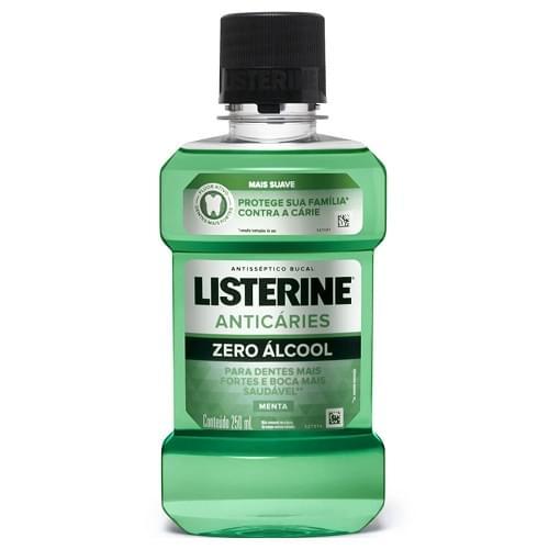 Imagem de Enxaguatório antisséptico listerine 250ml anticáries zero álcool