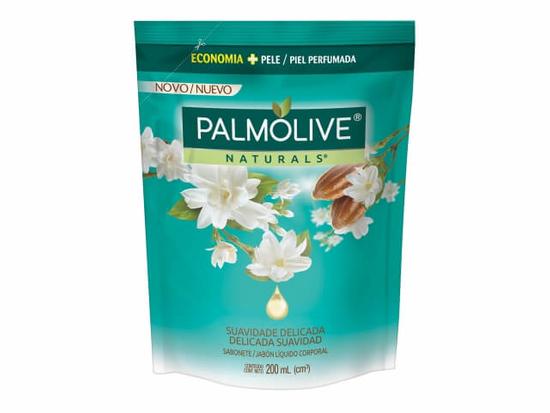 Imagem de Sabonete líquido uso diário palmolive 200ml esfoliação delicada jasmim refil