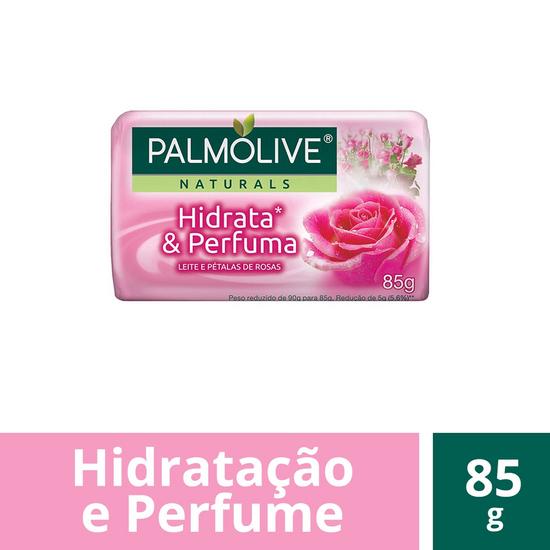 Imagem de Sabonete em barra uso diário palmolive 85g leite e rosas