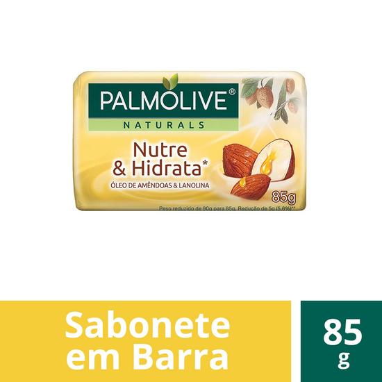 Imagem de Sabonete em barra uso diário palmolive 85g óleo de amêndoas e lanolina