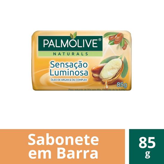 Imagem de Sabonete em barra uso diário palmolive 85g óleo de argan
