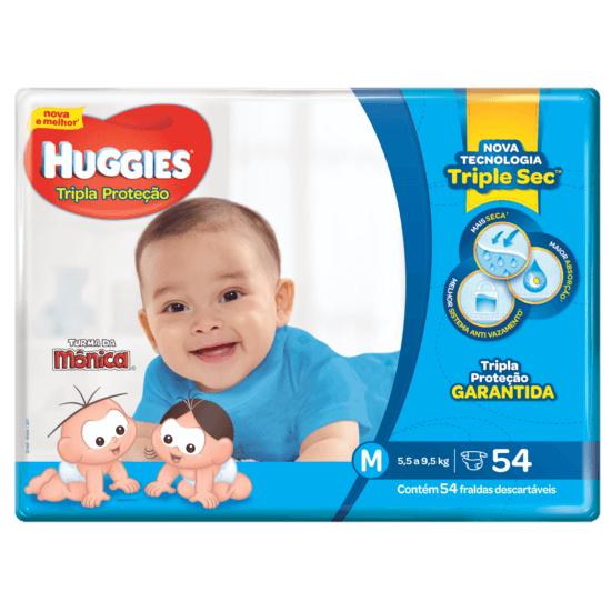 Imagem de Fralda infantil huggies c/54 tripla mega m pc
