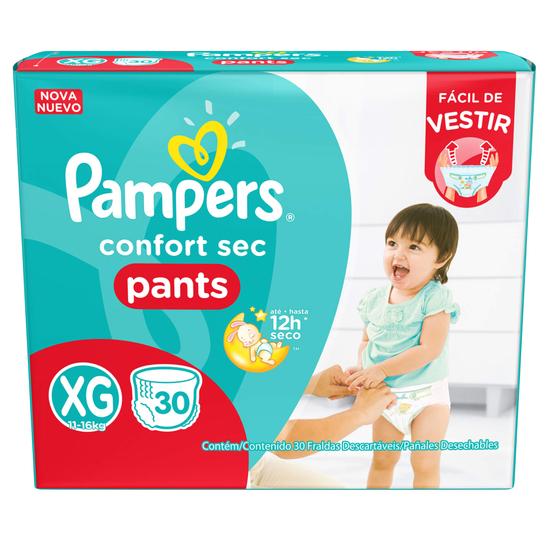 Imagem de Fralda infantil pampers pants c/30 confort sec xg pc