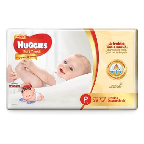 Imagem de Fralda infantil huggies c/36 primeiros 100 dias p