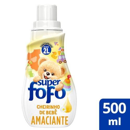 Imagem de Amaciante concentrado fofo 500ml cheirinho de talco