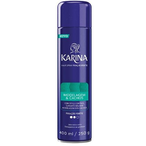 Imagem de Hair spray fixador karina 400ml cachos forte
