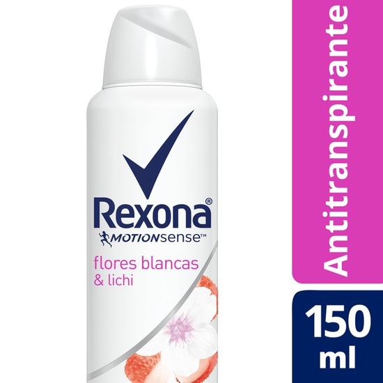 Imagem de Desodorante aerosol rexona 150ml flores brancas e lichia