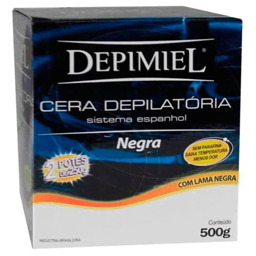 Imagem de Depilatório cera depimiel 500g negra