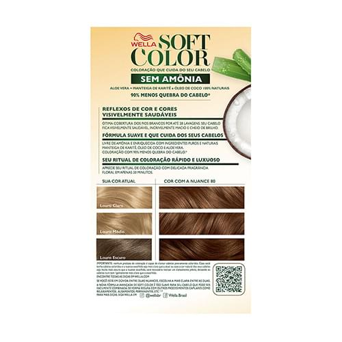 Imagem de Tintura semi permanente soft color 80 louro claro