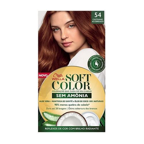 Imagem de Tintura semi permanente soft color 54 castanho acobreado