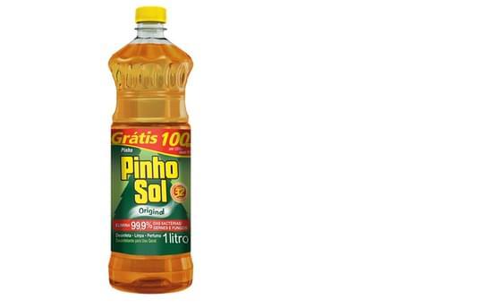 Imagem de Desinfetante líquido pinho sol 1l leve 1l pague 900ml original