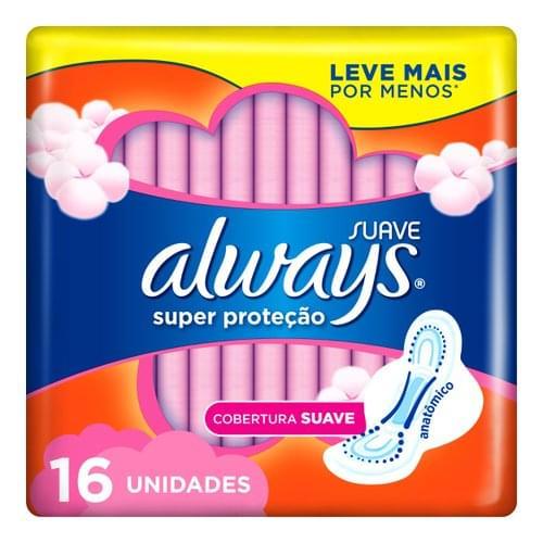 Imagem de Absorvente com abas always c/16 super proteção suave
