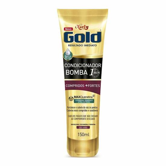 Imagem de Condicionador uso diário niely gold 150ml 1 min compridos+fortes