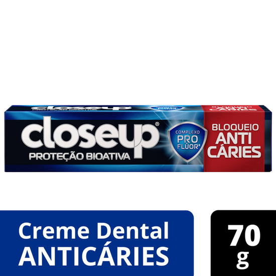 Imagem de Creme dental tradicional close-up 70g anti caries