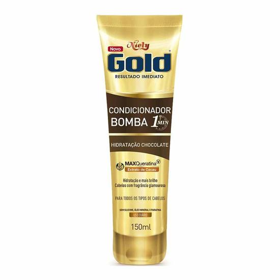 Imagem de Condicionador uso diário niely gold 150ml 1 m chocolate