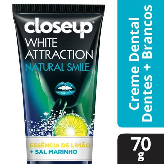 Imagem de Creme dental branqueador close-up 70g white attraction natural smile