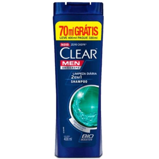 Imagem de Shampoo anti caspa clear 400ml limpeza diária 2 em 1