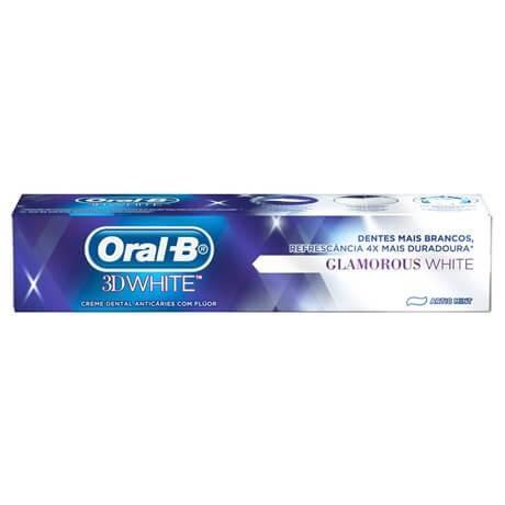 Imagem de Creme dental branqueador oral-b 90g 3dwhite glamorous white