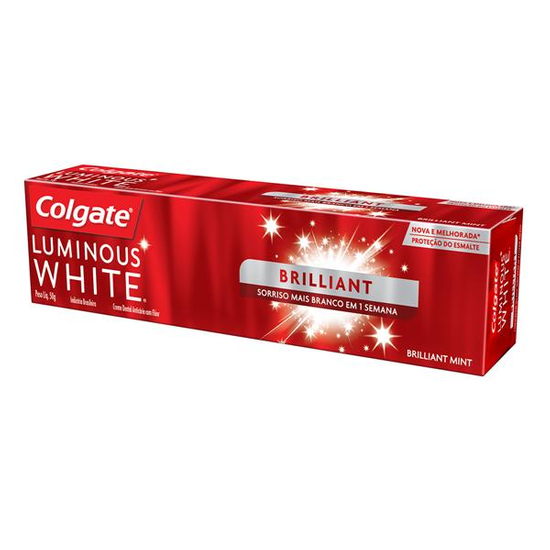 Imagem de Creme dental terapeutico colgate 50g luminous white brilliant