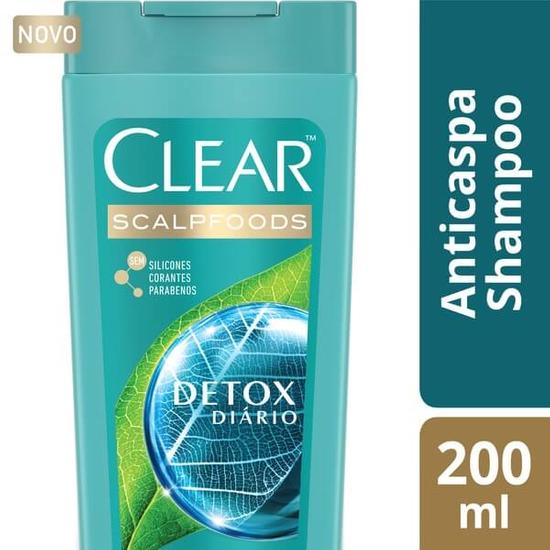 Imagem de Shampoo anti caspa clear 200ml detox diário