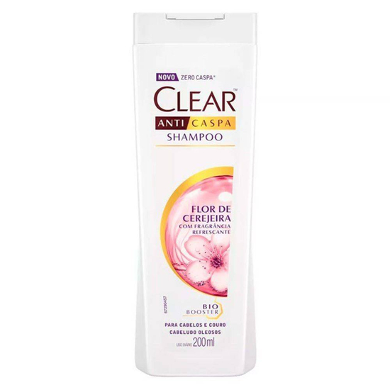 Imagem de Shampoo anti caspa clear 200ml flor de cerejeira