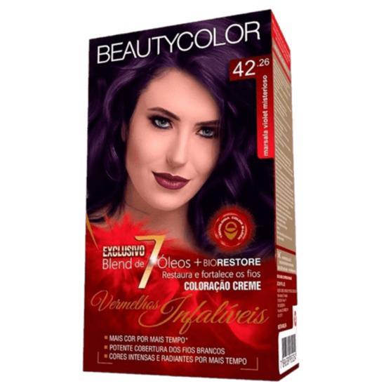 Imagem de Tintura permanente beauty color 42.26 marsala violet infalivel
