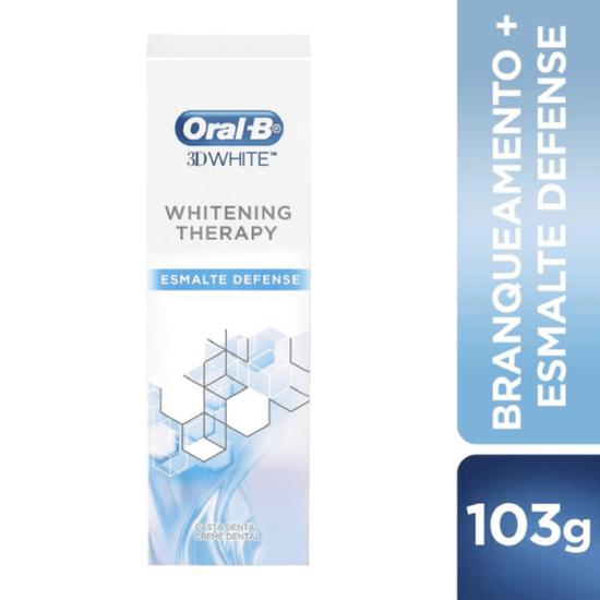 Imagem de Creme dental branqueador oral-b 103g esmalte defense