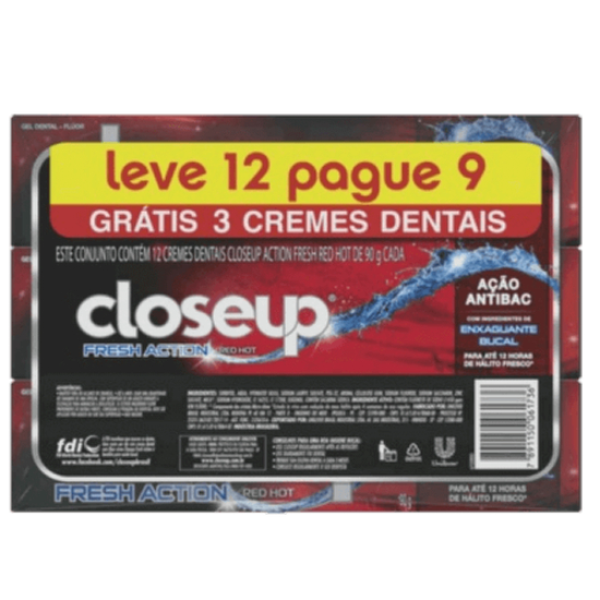 Imagem de Creme dental gel close-up 90g fresh action l12p9