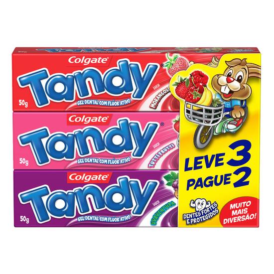 Imagem de Creme dental gel tandy 50g l3p2 morango/tuti-frutti/uva