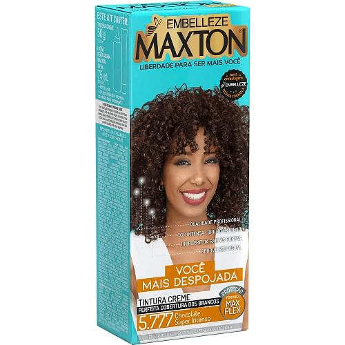 Imagem de Tintura permanente maxton 5.777 chocolate super intenso