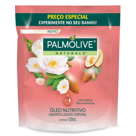 Imagem de Sabonete líquido uso diário palmolive 120ml camélia refil